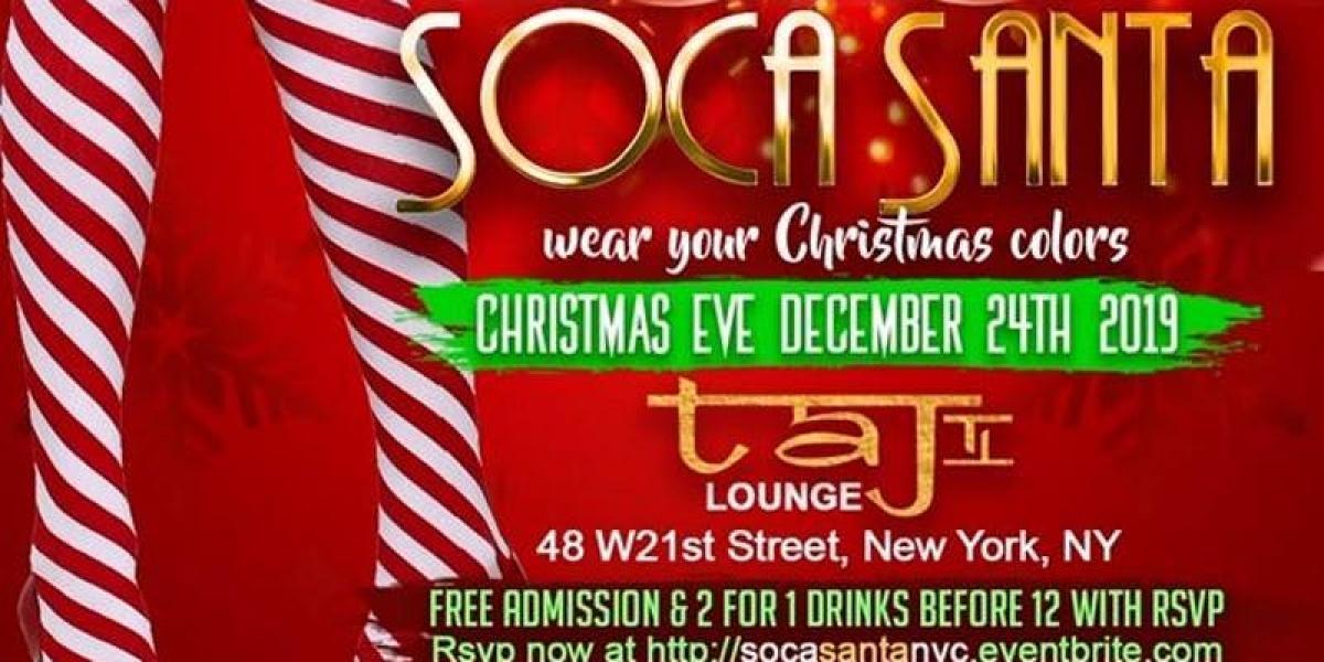 Soca Santa flyer or graphic.
