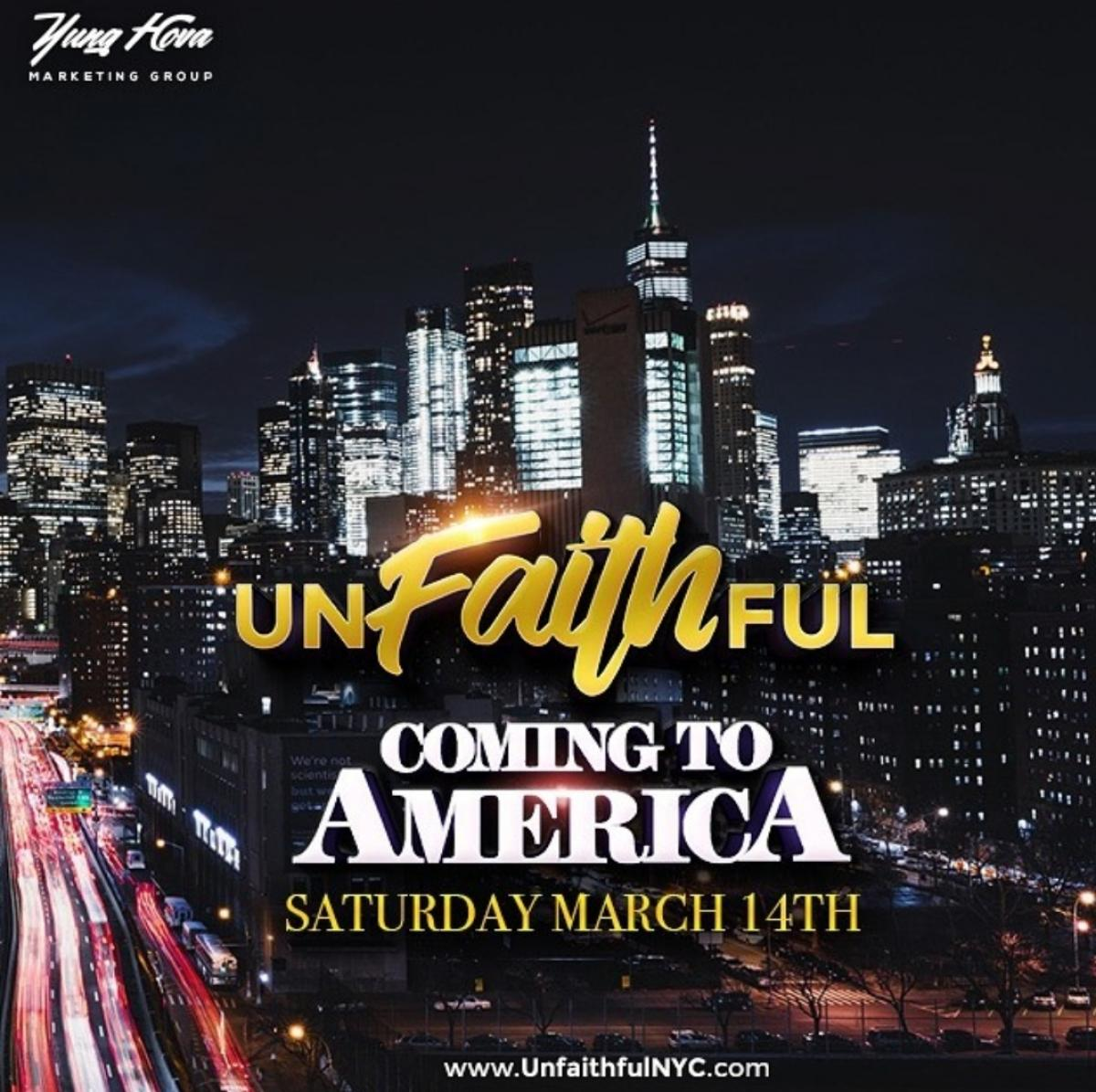 Unfaithful 2020 flyer or graphic.