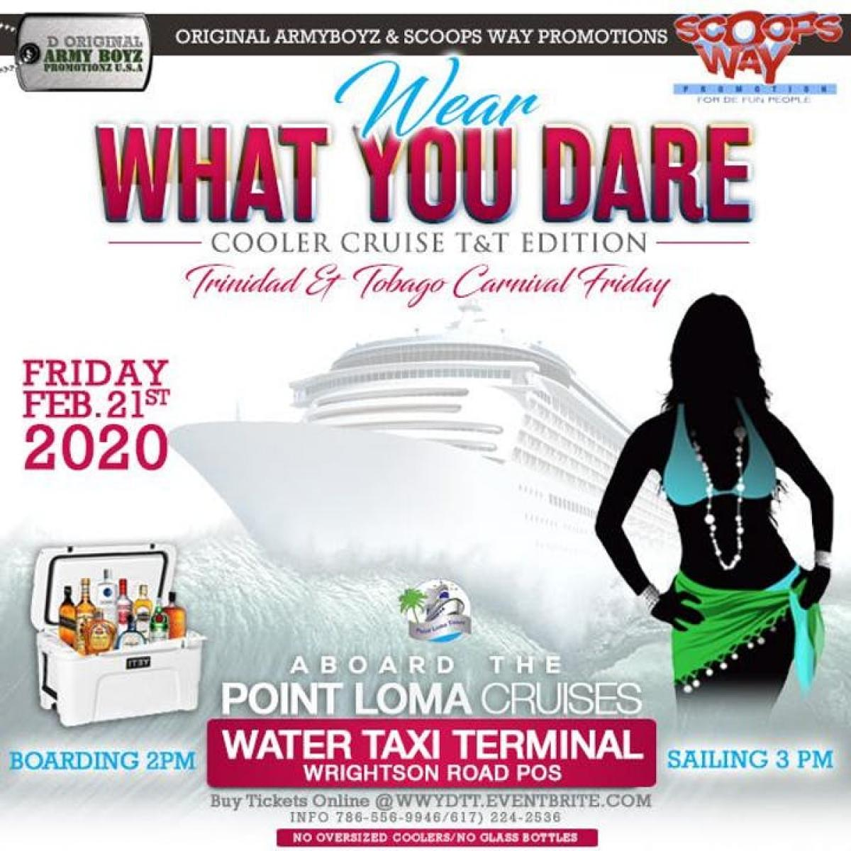 Wear What You Dare Cooler Cruise flyer or graphic.