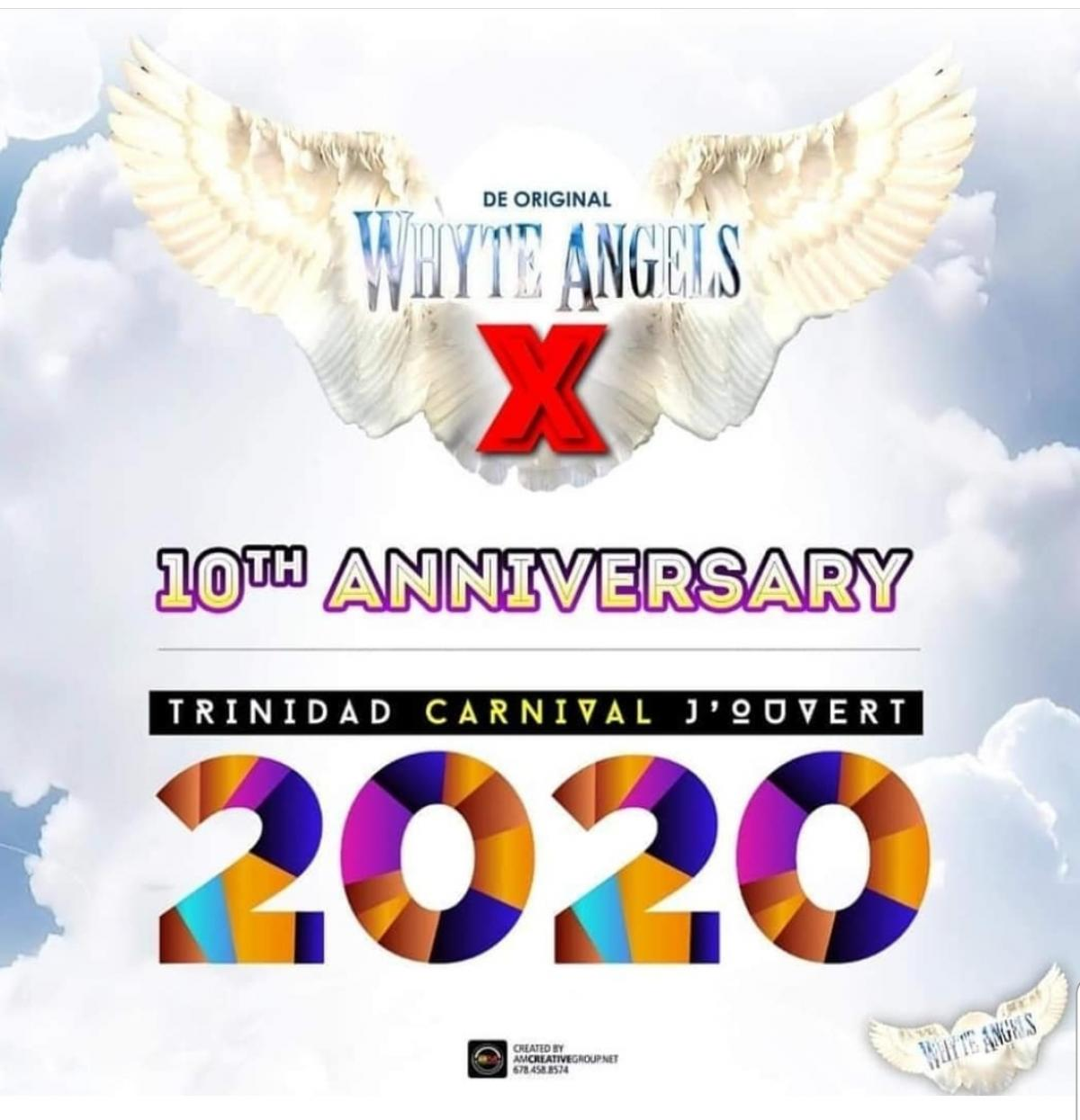 Whyte Angels 2020 J'ouvert flyer or graphic.