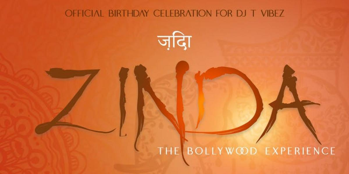 Zinda The Bollywood Experience flyer or graphic.