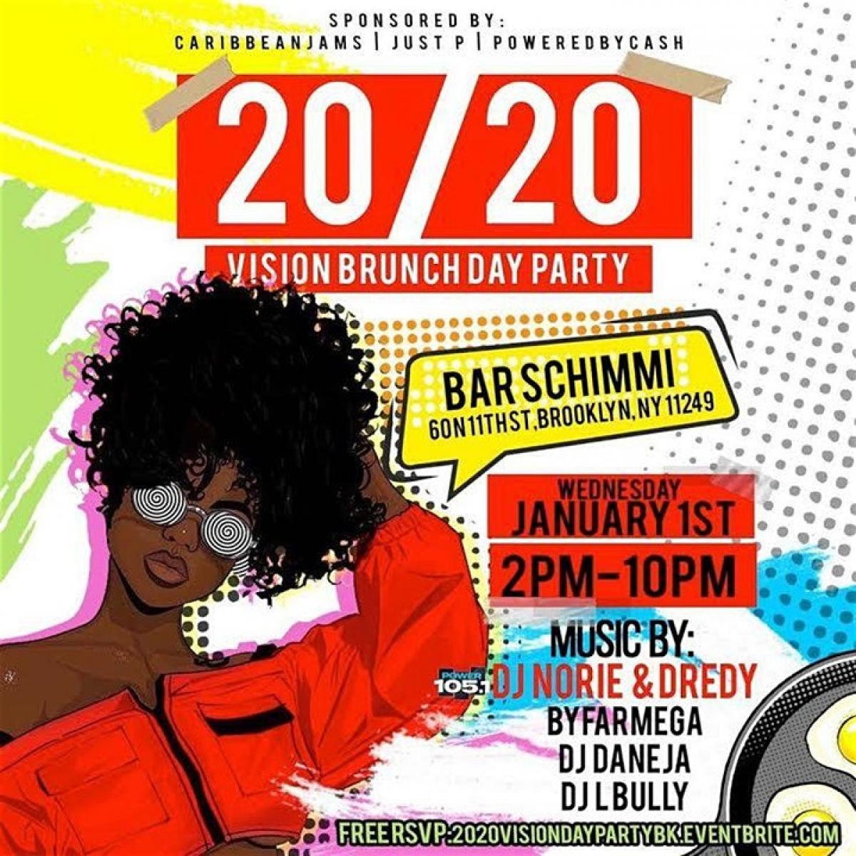 20/20 Vision Day Party flyer or graphic.