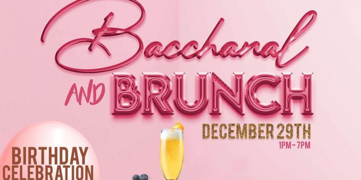 Bacchanal & Brunch flyer or graphic.