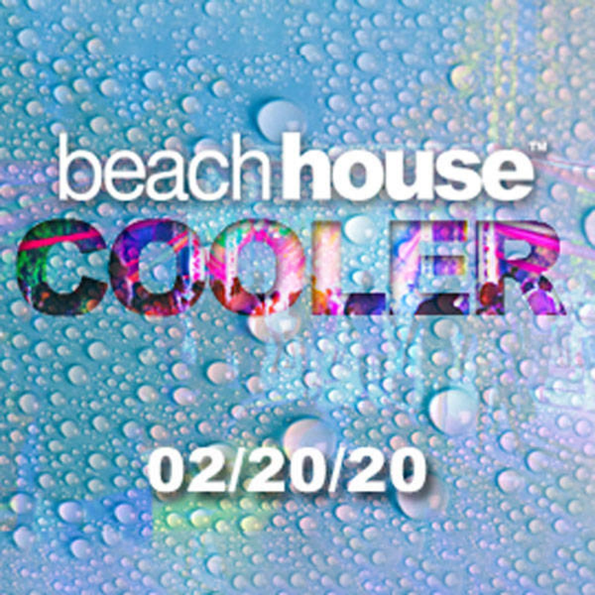 Beach House Cooler flyer or graphic.