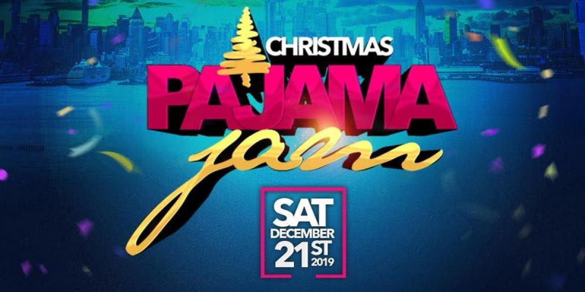 Christmas Pajama Jam flyer or graphic.