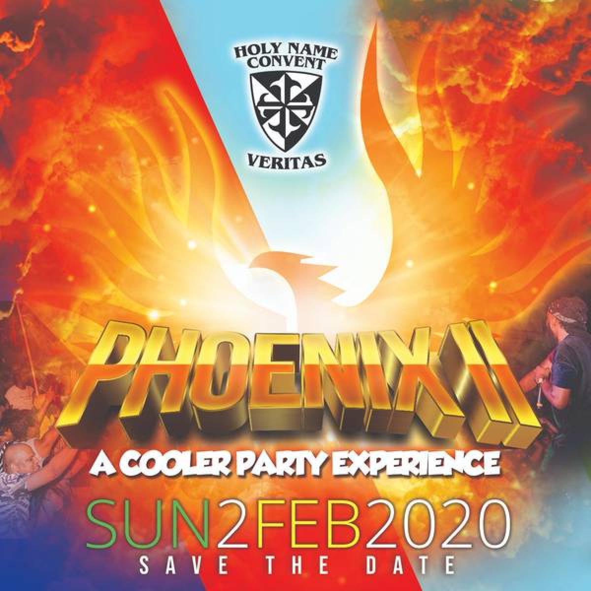 Phoenix II - Cooler Fete flyer or graphic.