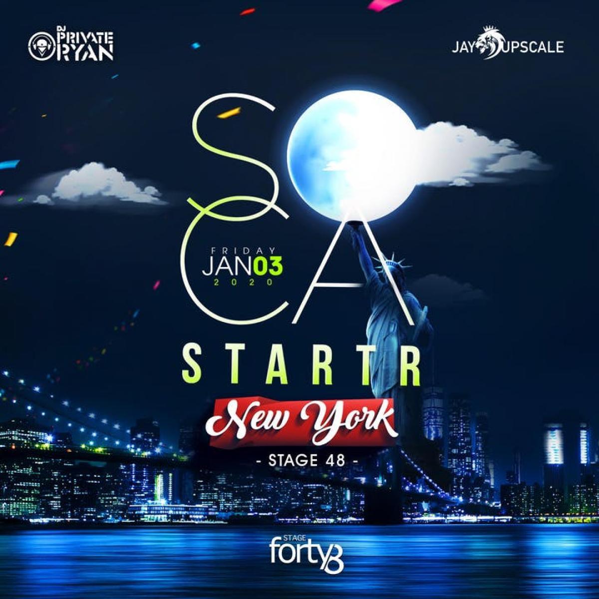 Soca Starter flyer or graphic.